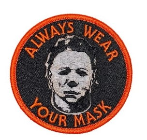MICHAEL MYERS HALLOWEEN WEAR YOUR MASK GLOW IN THE DARK PATCH